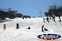 Skiing Slopes at Snowy Mountains . . . CLICK TO ENLARGE