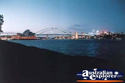 Sydney Harbour Bridge Landscape . . . CLICK TO VIEW ALL SYDNEY HARBOUR POSTCARDS