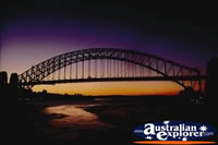 Sydney Harbour Bridge Sunset . . . CLICK TO ENLARGE