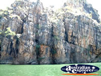 Katherine Gorge Rock Walls and Water From Boat . . . CLICK TO ENLARGE