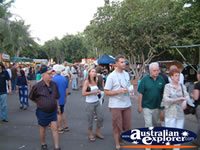 People wandering around the Darwin Mindil Beach Market . . . CLICK TO ENLARGE