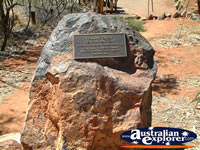 Tennant Creek Battery Hill Plaque . . . CLICK TO ENLARGE