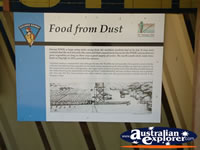 Wycliffe Well Food From Dust Sign . . . CLICK TO ENLARGE