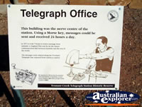 Tennant Creek Telegraph Office Sign . . . CLICK TO ENLARGE