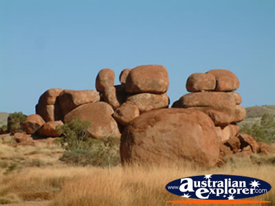shot of northern territorys devils marbles photograph. Black Bedroom Furniture Sets. Home Design Ideas