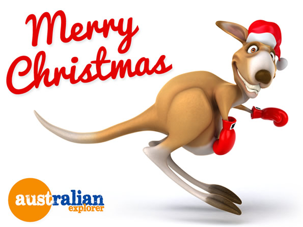Christmas Beach Kangaroo Virtual Postcard Christmas Beach
