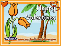 Valentines Flowers (Orange) . . . CLICK TO ENLARGE