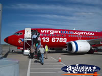 Passengers Boarding Virgin Blue Airplane . . . CLICK TO ENLARGE