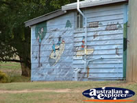 Eidsvold Mural on Building . . . CLICK TO ENLARGE