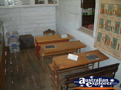 Capella Pioneer Village School Desks . . . CLICK TO VIEW ALL CAPELLA POSTCARDS