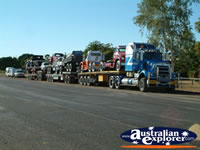 Camooweal Trucks Heading For Alice Springs . . . CLICK TO ENLARGE