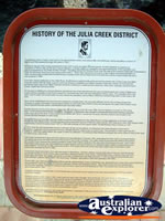 Julia Creek History . . . CLICK TO ENLARGE