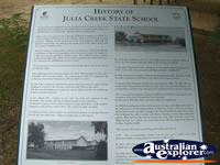 Julia Creek State School History Plaque . . . CLICK TO ENLARGE