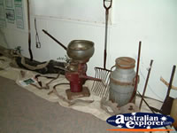Nebo Museum Pots, Pans and Rake Display . . . CLICK TO ENLARGE