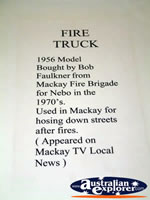 Nebo Museum Fire Truck Description . . . CLICK TO ENLARGE