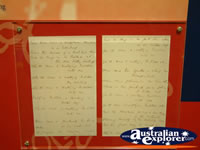 Winton Waltzing Matilda Centre Letter Display . . . CLICK TO ENLARGE