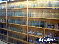 Empty Glass Bottle Display at Winton Waltzing Matilda Centre . . . CLICK TO ENLARGE
