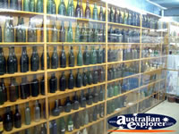 Winton Waltzing Matilda Centre Empty Glass Bottle Display . . . CLICK TO ENLARGE