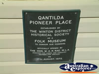 Winton Waltzing Matilda Centre Plaque . . . CLICK TO ENLARGE