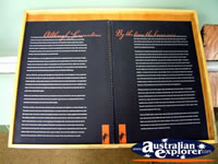 Informative Book at Winton Waltzing Matilda Centre . . . CLICK TO ENLARGE