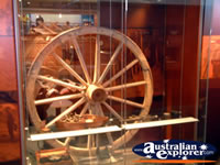 Wheel at Longreach Stockmans Hall of Fame . . . CLICK TO ENLARGE