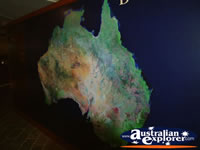 map of Australia in Stockmans Hall of Fame . . . CLICK TO ENLARGE