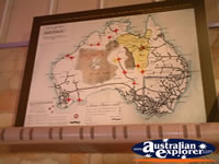 Longreach Stockmans Hall of Fame Australian Map . . . CLICK TO ENLARGE