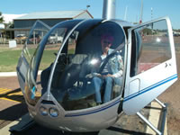 Longreach the Helicopter with Passenger . . . CLICK TO ENLARGE