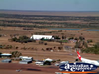 Longreach View of City and Plane from Helicopter . . . CLICK TO ENLARGE
