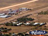 Longreach View of Town and Plane from Helicopter Airport . . . CLICK TO ENLARGE