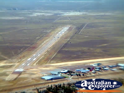 Longreach View of Helicopter Landing Strip . . . VIEW ALL LONGREACH PHOTOGRAPHS