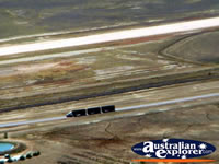 Longreach View from Helicopter of Roadtrain . . . CLICK TO ENLARGE