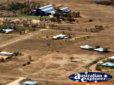 Longreach View from Helicopter of Stockmans Hall of Fame . . . CLICK TO VIEW ALL LONGREACH POSTCARDS