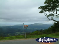 Maleny View and Street Sign from Mary Cairncross Reserve . . . CLICK TO ENLARGE
