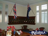 Australian and British Flag at Childers Soldiers Memorial . . . CLICK TO ENLARGE