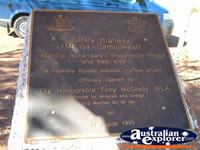 Camooweal Barkly Highway Plaque . . . CLICK TO ENLARGE