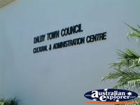 Dalby City Council Sign . . . CLICK TO ENLARGE