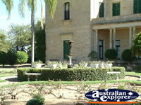 Picturesque garden at the Dalby Jimbour House . . . CLICK TO ENLARGE
