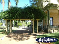 Beautiful walkway at the Dalby Jimbour House . . . CLICK TO ENLARGE