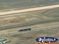 Longreach View from Helicopter Roadtrain . . . CLICK TO ENLARGE