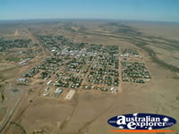 Longreach Birds Eye View from Helicopter Over Town . . . CLICK TO ENLARGE