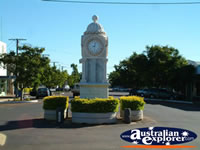 Barcaldine Town Clock & Memorial . . . CLICK TO ENLARGE