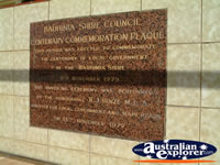 Springsure Bauhinia Shire Centenary Plaque . . . CLICK TO ENLARGE
