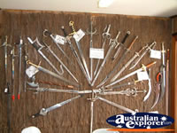Bli Bli Castle Sword Wall Display . . . CLICK TO ENLARGE