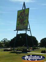 Emerald Van Gough Painting in Park . . . CLICK TO ENLARGE
