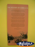 Surat Cobb & Co Changing Station History Plaque . . . CLICK TO ENLARGE