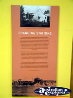 Surat Cobb & Co Changing Station Changing Stations Plaque . . . CLICK TO ENLARGE
