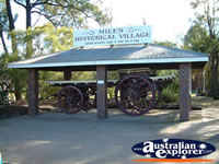 Miles Historical Village Entrance . . . CLICK TO ENLARGE