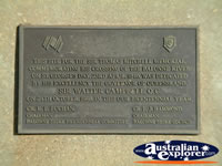 St George Sir Thomas Mitchell Memorial Plaque . . . CLICK TO ENLARGE