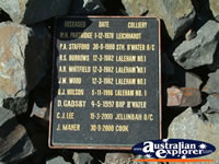 Blackwater Deceased Plaque . . . CLICK TO ENLARGE